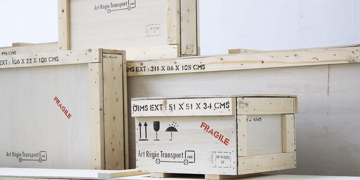 Art régie transport : stockage objets d'art
